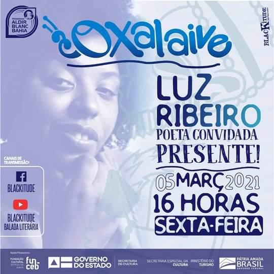 Sétima edição da Oxalaive será com Luz Ribeiro