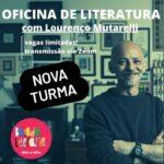Nova turma para Oficina de Literatura com Lourenço Mutarelli; inscrições em breve!