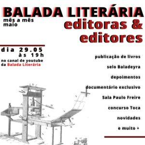 Balada Literária de maio será dedicada às editoras