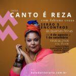 Fabiana Cozza ministra o curso 'Canto é reza' na Balada Literária