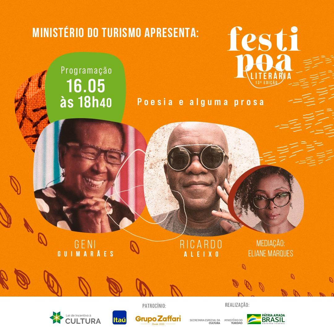 FestiPoa 2021 – Geni Guimarães, Ricardo Aleixo e Eliane Marques