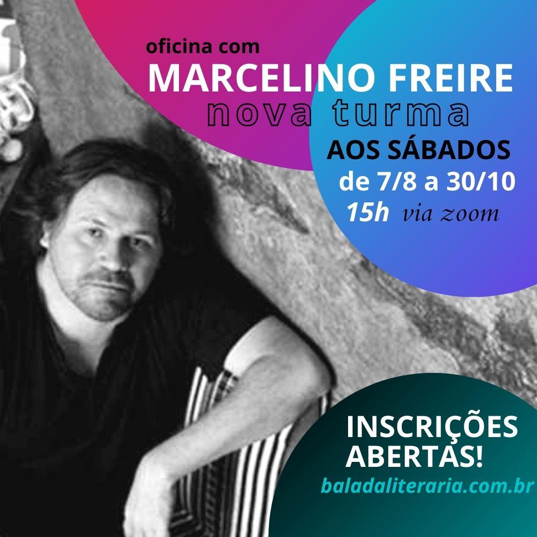 Nova turma para oficina literária com Marcelino Freire – sábados
