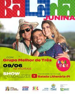 Balada Junina, a festa literária com o show 'Melhor De Três'