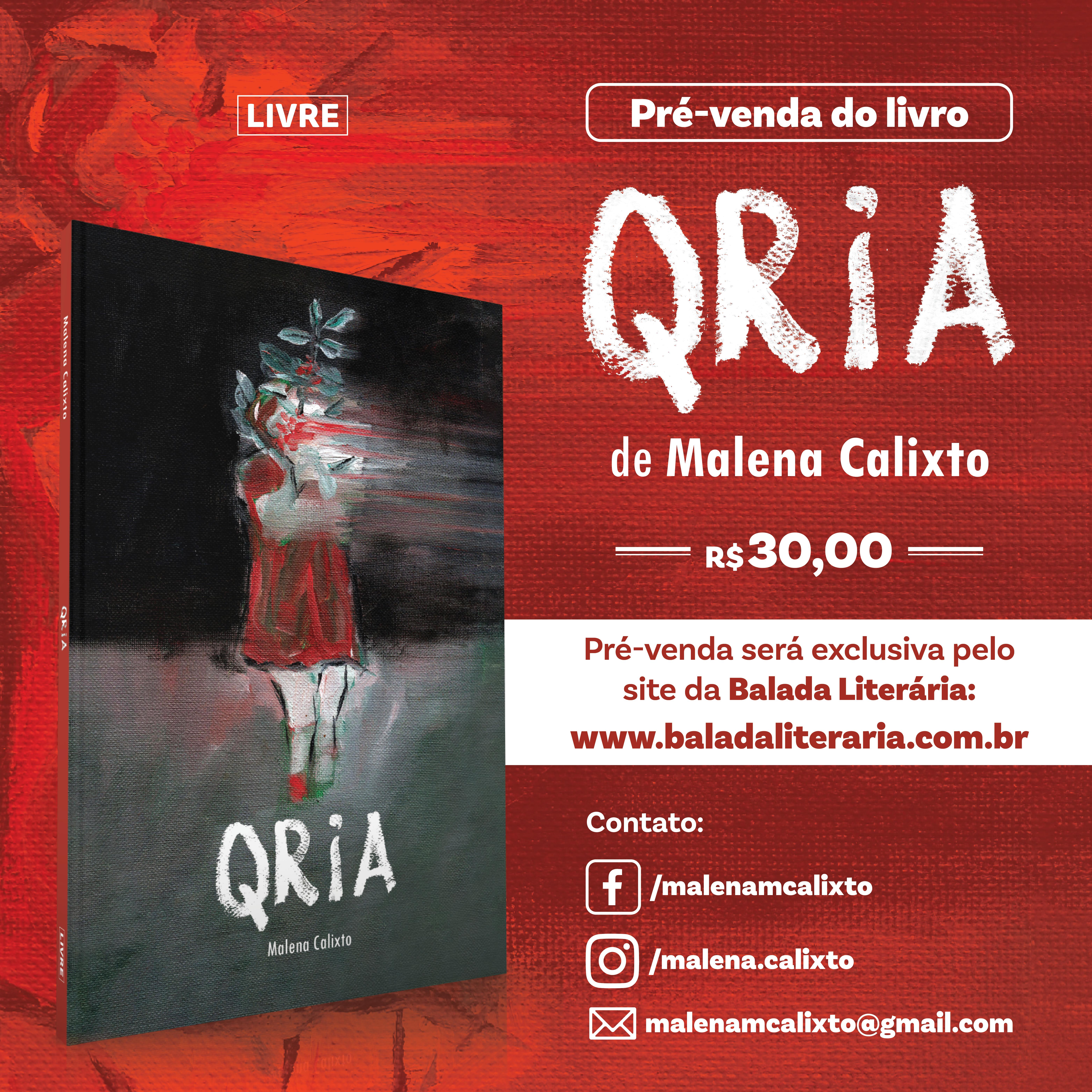 Baladeyra lança 'Qria', livro de estreia de Malena Calixto