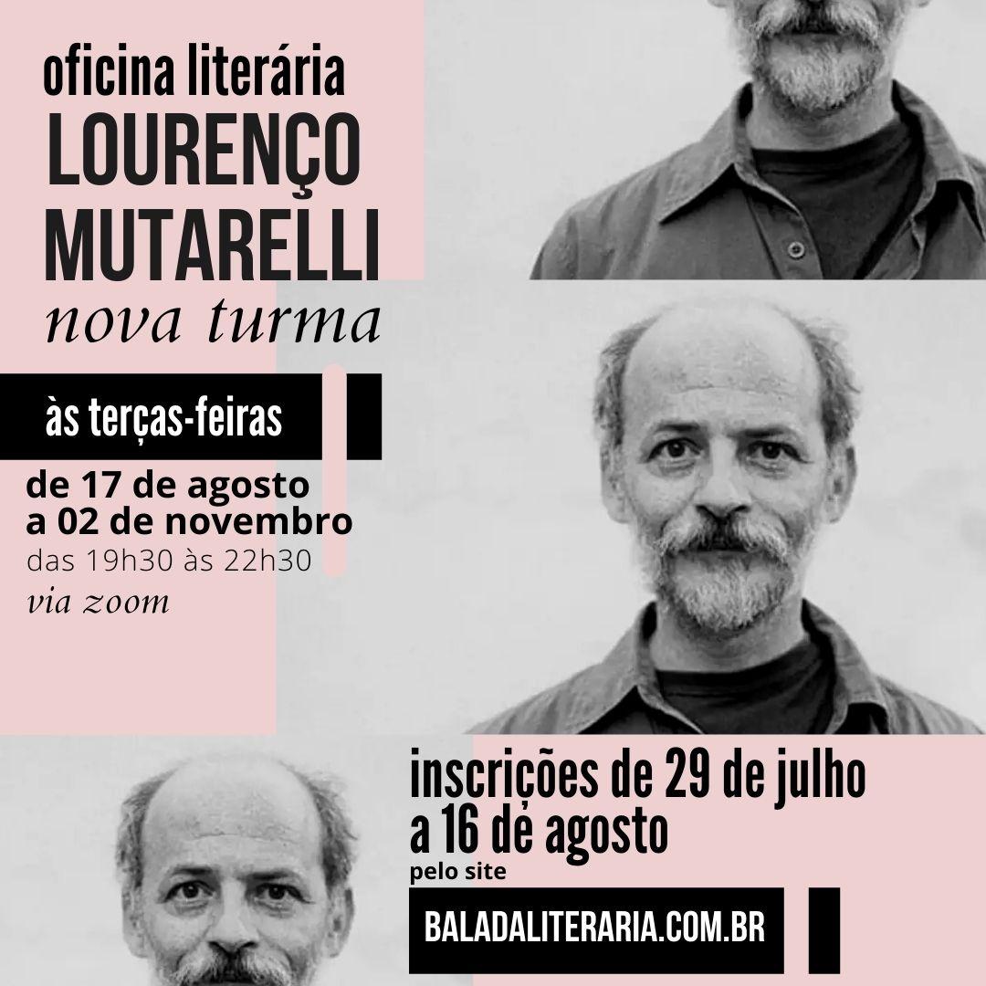 Inscrições abertas: oficina de literatura com Lourenço Mutarelli na Balada Literária