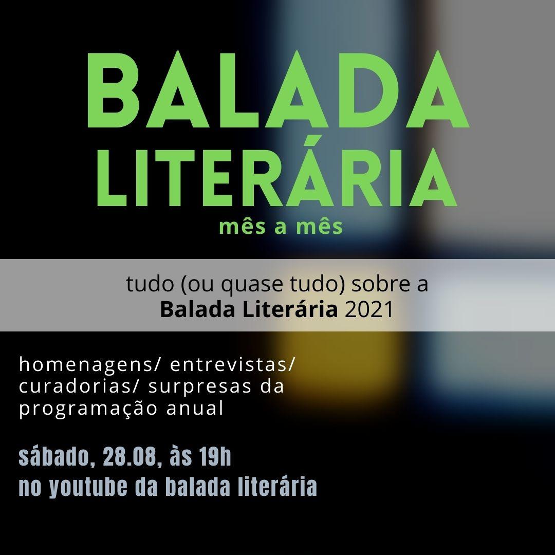 Balada Literária anuncia parte de sua programação da edição de 2021