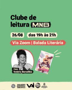 Clube de Leitura Mulheres Negras na Biblioteca com Valéria Barcellos