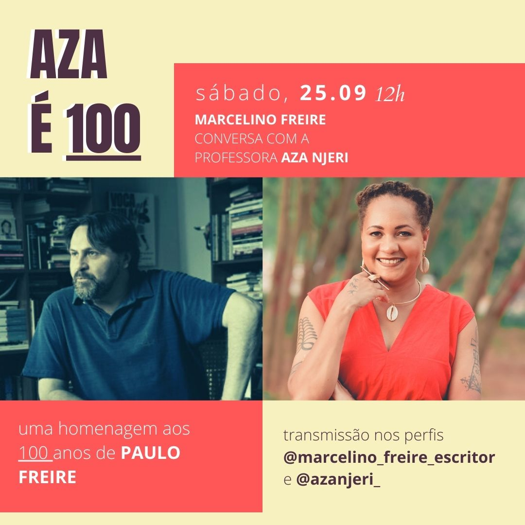 Aza Njeri é a convidada da estreia da série 'Nota 100' em homenagem ao centenário de Paulo Freire